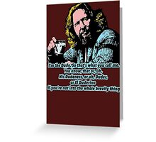 The Big lebowski and the philosophy 2 Greeting Card