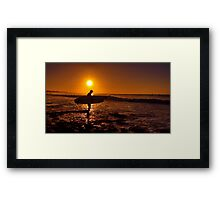 """Dawn Surfer"" Framed Print"