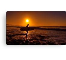 """""""Dawn Surfer"""" Canvas Print"""