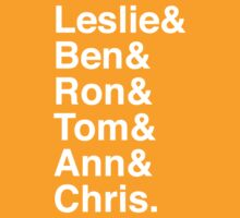 Leslie & Ben & Ron & Tom & Ann & Chris. (Parks & Rec) (Inverse) by Samantha Weldon