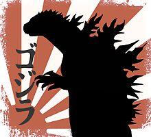 Godzilla by misterspotswood