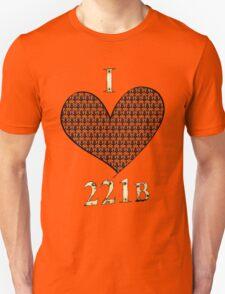 I ♥ 221B Unisex T-Shirt
