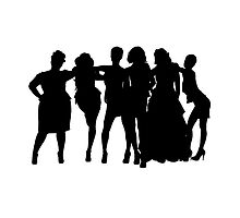 Bridesmaids silhouette by -samanthadavey