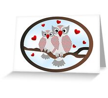 Cartoon owls -  You and me design Greeting Card