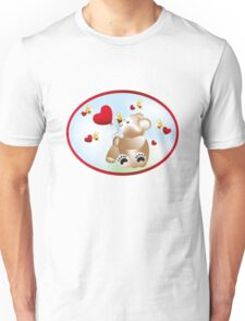 Teddy with hearts and bees  Unisex T-Shirt