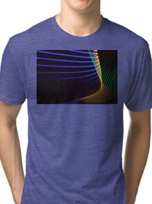 Light Painting - Neon Tri-blend T-Shirt