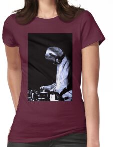 DJ Sloth Womens Fitted T-Shirt