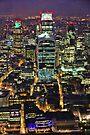 City of London Skyline at Night by Jasna