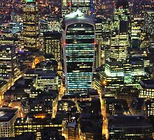 City of London Skyline at Night by Jasna