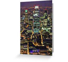 City of London Skyline at Night Greeting Card