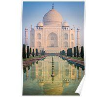 Taj Mahal Dawn Reflection Poster