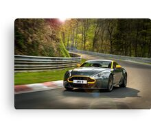 The new Aston Martin N430 testing at the Nurburgring in Germany ... Canvas Print