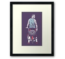 Low Ride Skull WithTattoo Framed Print