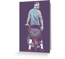 Low Ride Skull WithTattoo Greeting Card