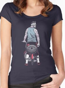 Low Ride Skull WithTattoo Women's Fitted Scoop T-Shirt