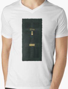 221B Door Mens V-Neck T-Shirt
