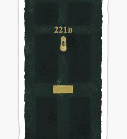 221B Door Sticker
