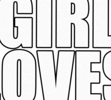 THIS GIRL LOVES PITBULLS SHIRT Sticker