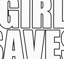 THIS GIRL SAVES PITBULLS SHIRT Sticker