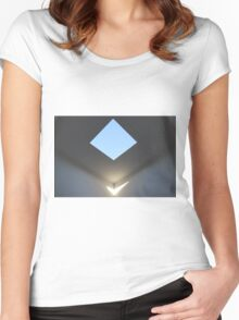 Skyspace - Floating Light Women's Fitted Scoop T-Shirt