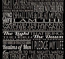 The Nights Watch Oath Canvas by outlawalien