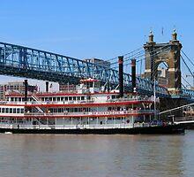 Belle of Cincinnati - Roebling Brige 2014 by Tony Wilder