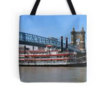Belle of Cincinnati - Roebling Brige 2014 Tote Bag