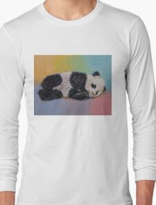 Baby Panda Rainbow Long Sleeve T-Shirt