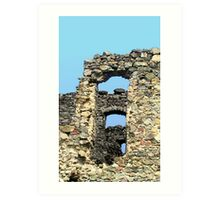 Windows in Ruin Walls Art Print