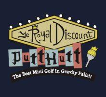 Gravity Falls Mini Golf - Turf Green Kids Tee