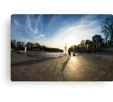 WWII Memorial at Dusk Canvas Print