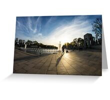 WWII Memorial at Dusk Greeting Card