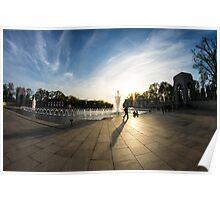 WWII Memorial at Dusk Poster