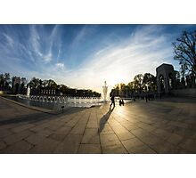 WWII Memorial at Dusk Photographic Print
