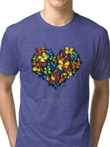Butterflies Collection: you are love Tri-blend T-Shirt