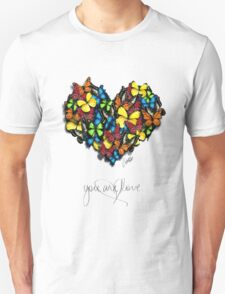 Butterflies Collection: you are love Unisex T-Shirt