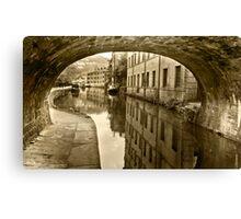 Rochdale Canal, Hebden Bridge Canvas Print