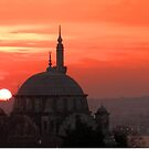 Sunset and Mosque, Istanbul by Zoe Marlowe