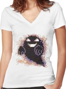 The Ghost of Lavender Town Women's Fitted V-Neck T-Shirt