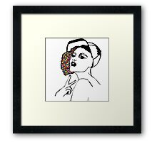 Girl with cap Framed Print