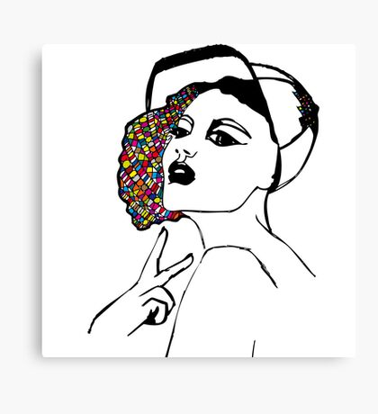 Girl with cap Canvas Print