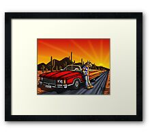 Aliens ride in style  Framed Print
