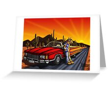Aliens ride in style  Greeting Card