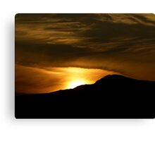 Sunset over the Mountain Canvas Print