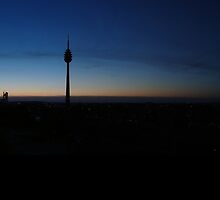 Sunset over Nuremberg - Panorama by MarkusTheLion