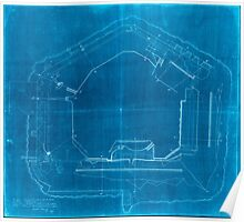 Civil War Maps 2178 Plan of Fort Sumter South Carolina surveyed March 20th 22 27 1865 Inverted Poster