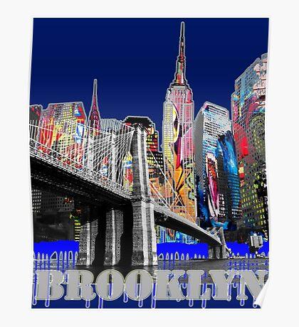Brooklyn Bridge graffiti Poster