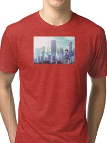 Ghost in the shell - chibi city Tri-blend T-Shirt