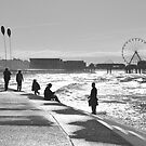 On the Front at Blackpool, February by Nick Coates