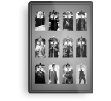 The Twelve Doctors Metal Print